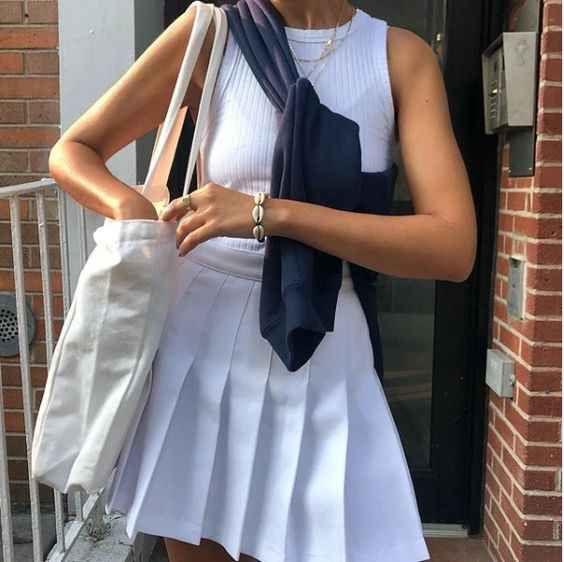 tennis skirt outfit ideas