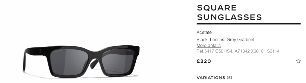 chanel sunglasses of the season