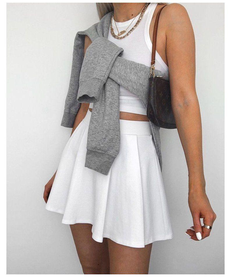 tennis skirt outfit idea