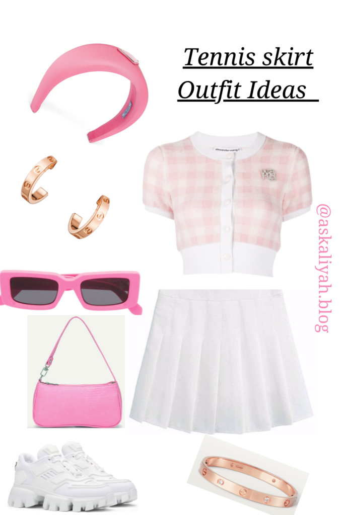 tennis skirt outfit idea for the summer